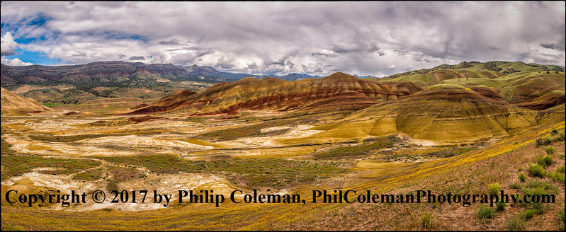 Eastern View, Painted Hills Panorama