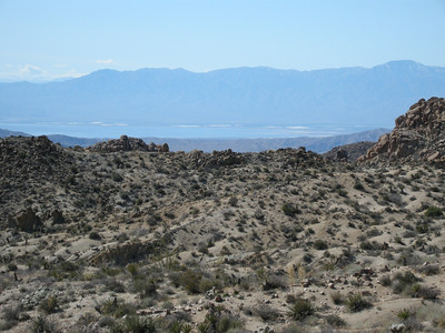 Another view of the distant Salton Sea to the southwest.