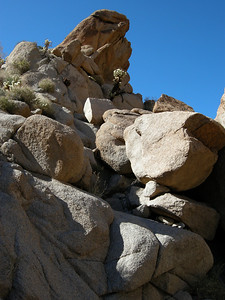 Where the rock is harder, these desert canyons tend to constrict down to boulder-choked tight spots.