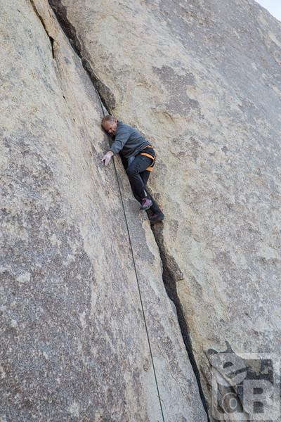 John Long climbing in Joshua Tree National Park