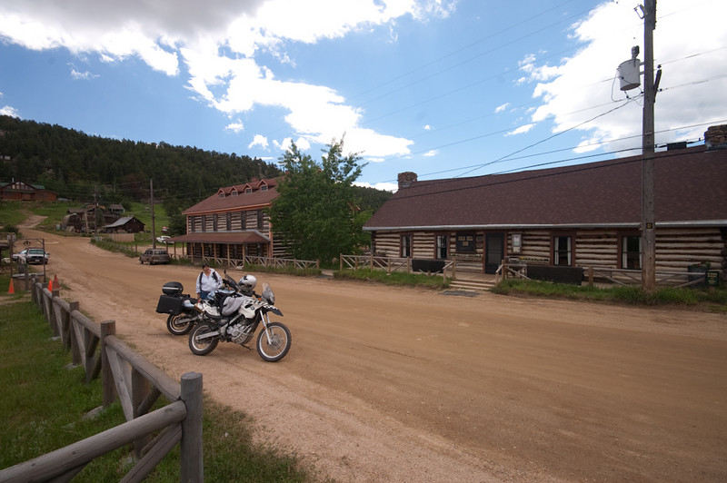 main street in Gold Hill, CO