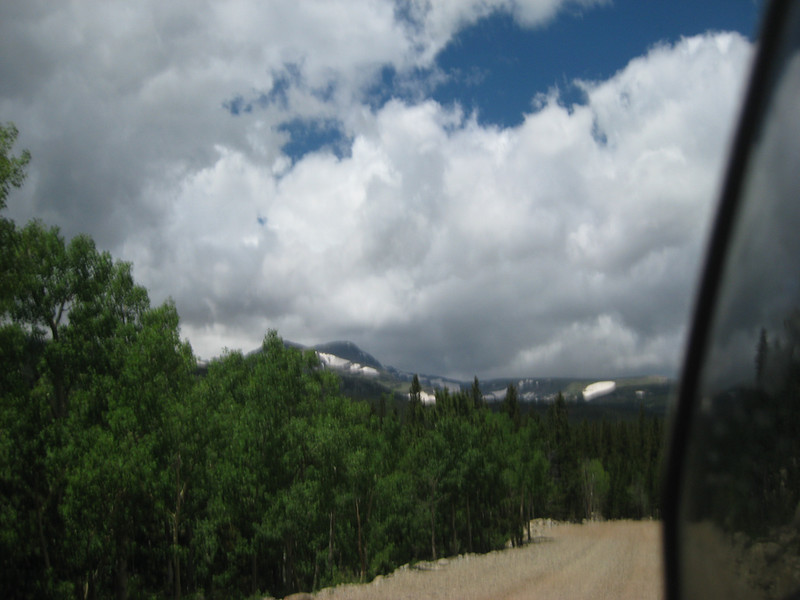 road to Rainbow Lakes - only a little blurry from gravel