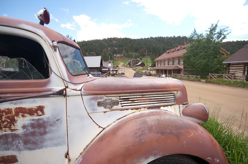 Old Ford firetruck in Gold Hill, Colorado