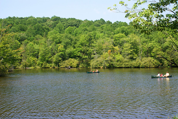 Canoe on Julian Price Park Lake, near Blowing Rock, NC - Off the Blue Ridge Parkway