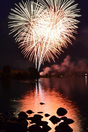 July 4th Fireworks 2013, Estes Park, Colorado