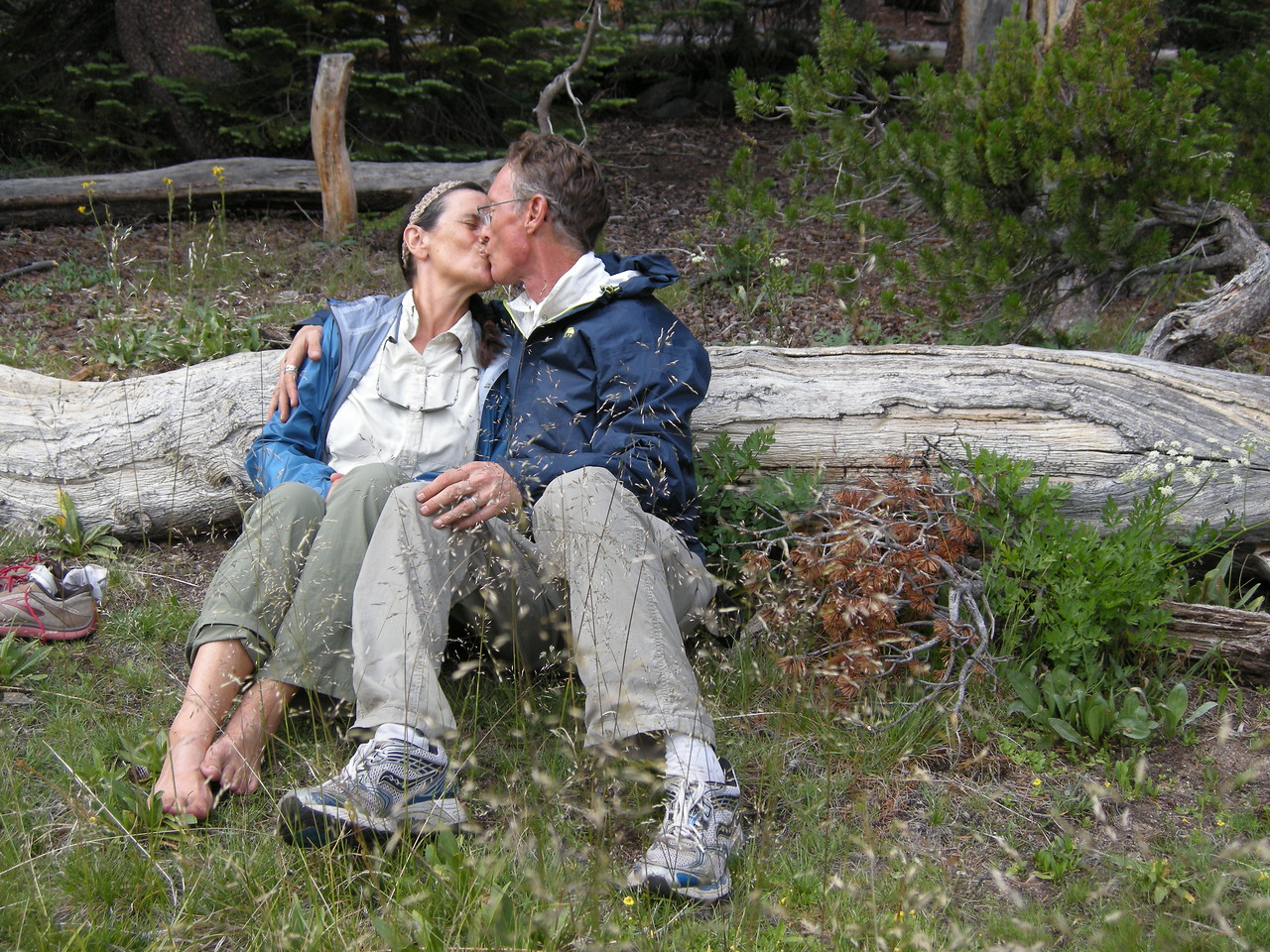 """I know, """"Get a room!"""" Well, it just happens that our room is the Great Outdoors!"""