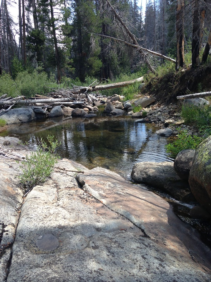 A streamside pool; great place for a rest stop.