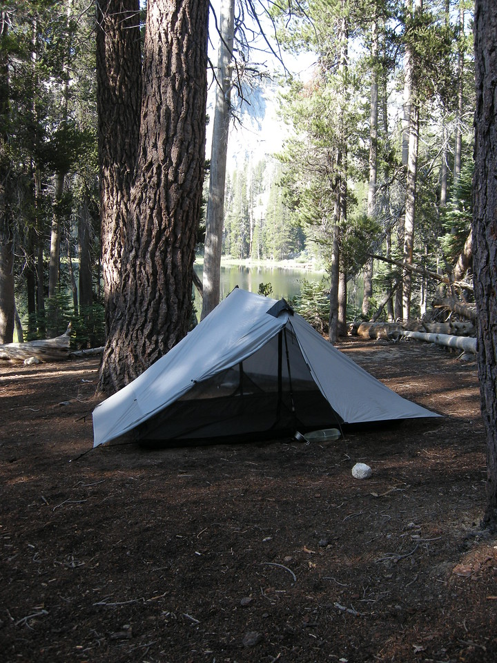 Our campsite near Seville Lake. Beautiful and tranquil.