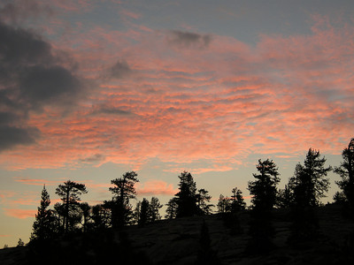 Evening sky over our night's camp. We stayed in the National Forest, where campgrounds are free.