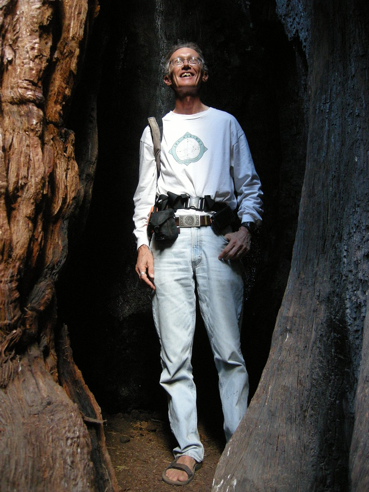 Bryan inside a burned out Sequoia base.