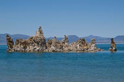 A tufa island.