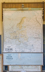 Maps in the classroom.  Times have changed considerably.