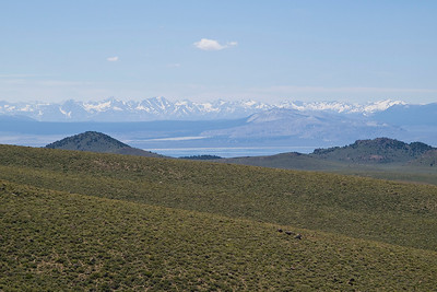 Looking south to Mono Lake from CA highway 270 near Bodie.