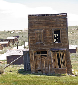 Propped building in Bodie.