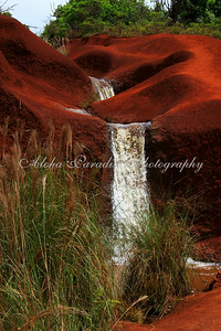 RED DIRT WATERFALL, WAIMEA CANYON DRIVE, KAUAI