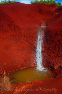 RED DIRT WATERFALL WAIMEA CANYON ROAD