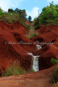 RED DIRT WATERFALL, WAIMEA CANYON