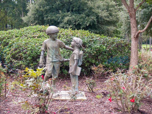 Glass Recreation Center children statue