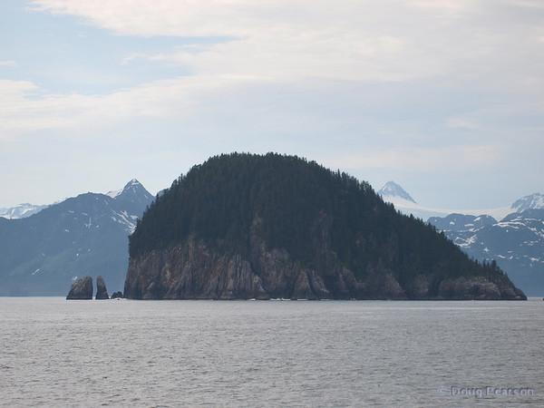 An Island in Kenai Fjords near Seward Alaska