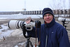 Long-time friend, Greg Wilde with a Canon 500mm F.4L on a Canon 7D DSLR, Hamilton, Illinois bank of the Mississippi River