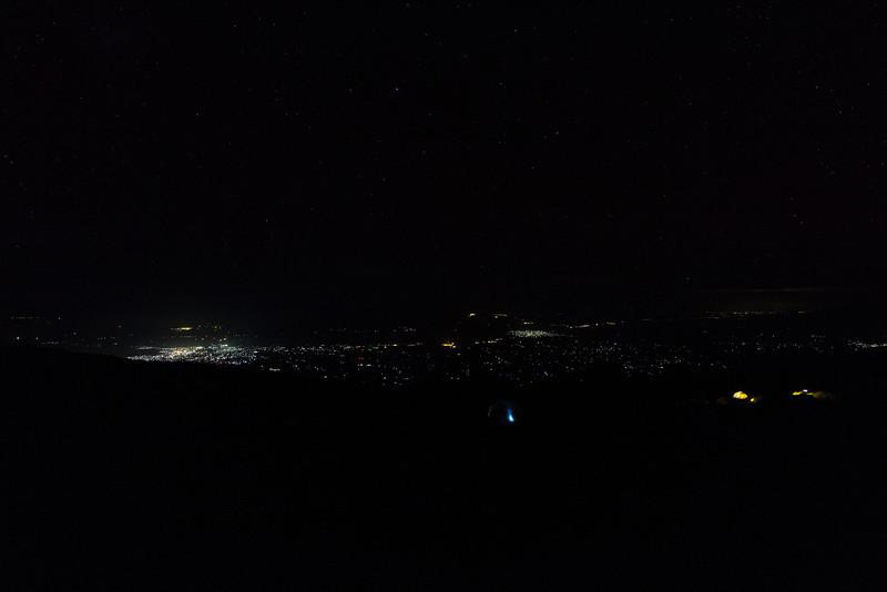 Lights of Moshi, seen from Karanga Camp.