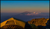 Barafu camp. Sunrise on Mt. Meru