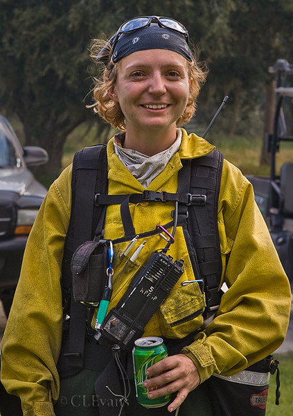 Park Service Specialist, Jen Benson graciously allowed me to take her picture as she was taking a break after a controlled burn at Kissimmee Prairie Preserve State Park.  Thanks, Jen!