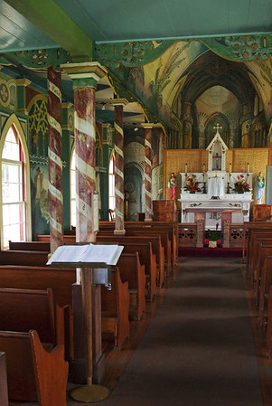 Interior - Painted Church.