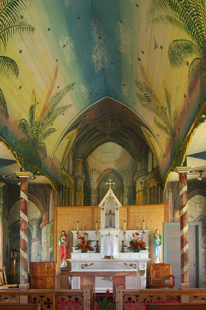 Ceiling and altar - Painted Church