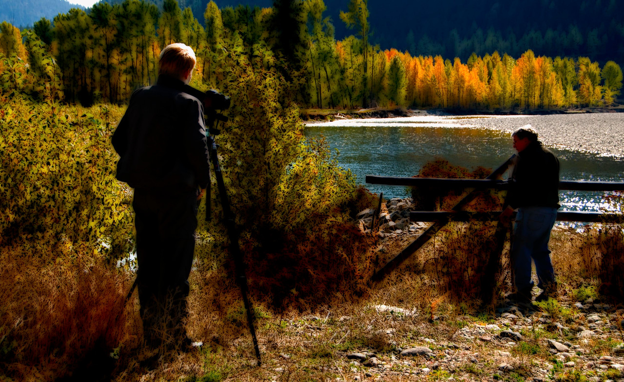 Doreen and Joe, 2 of my best friends joined me on this trip. This is just east of Princeton, B.C.
