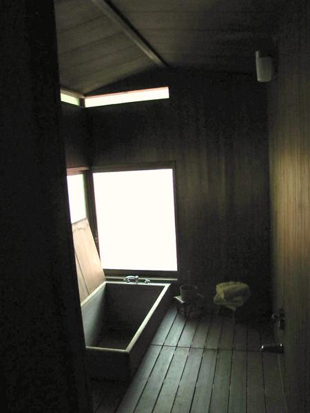 the bath, with soaking tub