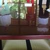the long low table where tea would be prepared for the traditional tea ceremony