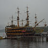 Pirate ships on the dock