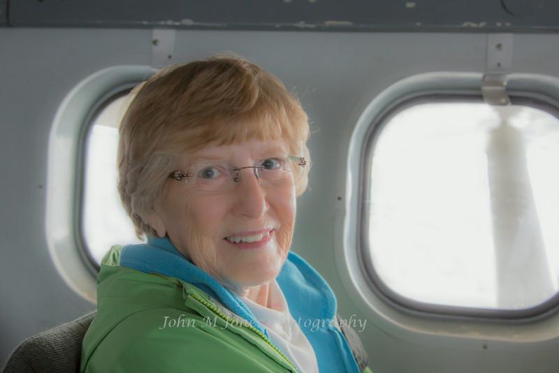 Gloria in the de Havilland Otter