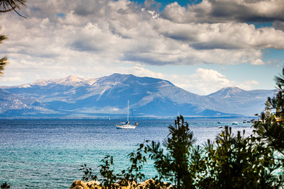 This shot was taken from the cottages looking south from Meeks Bay, Lake Tahoe.