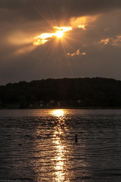 Sun setting on Lake Mohawk
