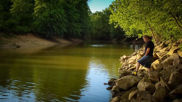 Fishing on the Tuscarawas River