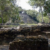 Lamanai Jaguar Temple from courtyard