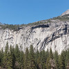 Panorama of Royal Arches, Washington Column and North Dome in Yosemite Valley - 10 Apr 2011