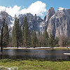 Meadow and Cathedral Spires in Yosemite Valley - 8 Apr 2011
