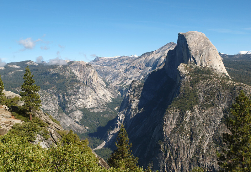 View of Half Dome and eastern Yosemite Valley from Glacier Point - 25 Oct 2010