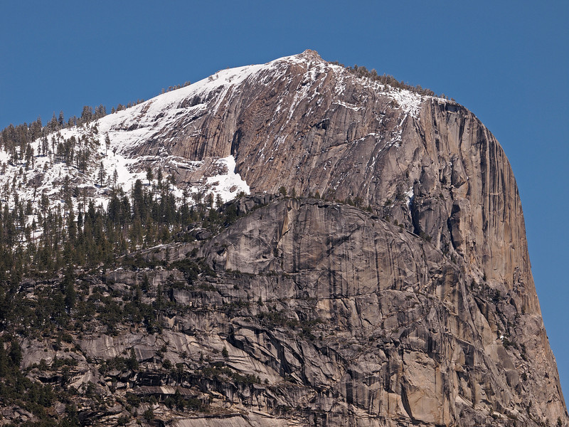 Mount Watkins seen from Mirror Lake in Yosemite Valley - 10 Apr 2011