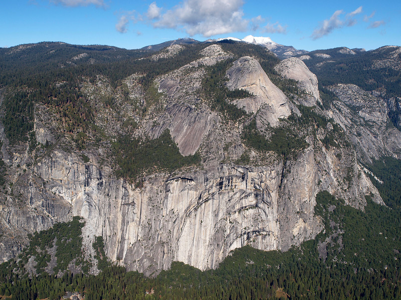 View of Royal Arches and North Dome from Glacier Point - 25 Oct 2010
