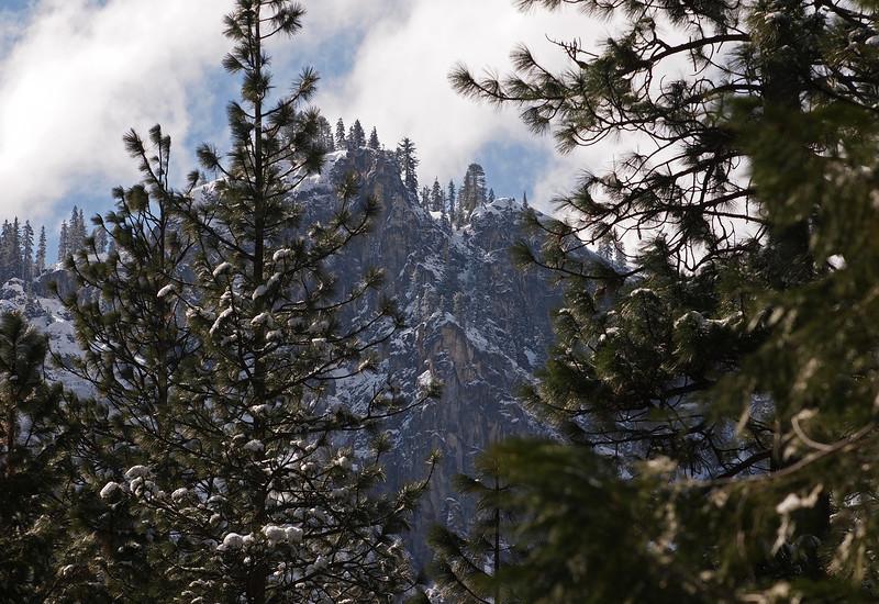 Upper Yosemite Falls in Yosemite Valley - 8 Apr 2011