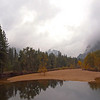 View of the Merced river from Swinging Bridge in Yosemite Valley - 23 Oct 2010