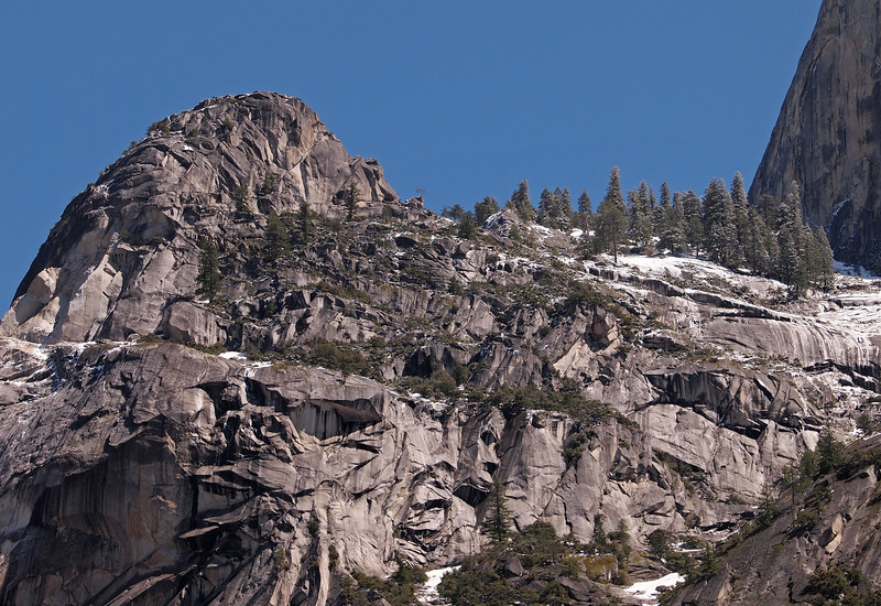 Northwest Edge of Half Dome in Yosemite Valley - 10 Apr 2011