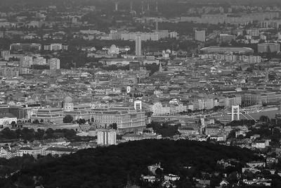 Budapest View from János-hegy — Budapesti panoráma a János-hegyről