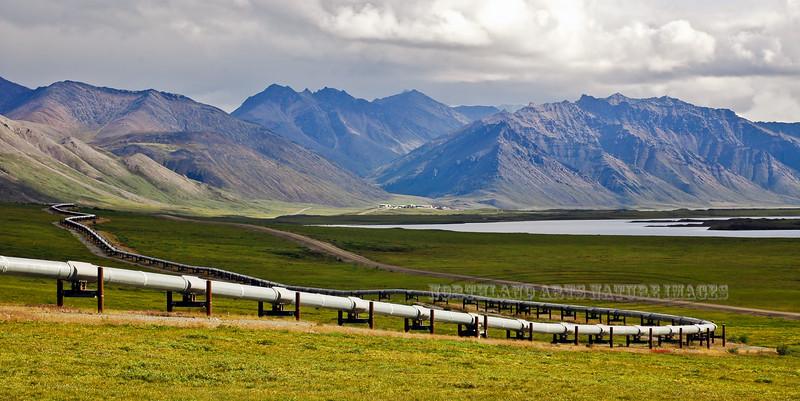 Pump No. 4 on the Alaska Pipeline. Atigun Pass. North side of the Brook's Range Alaska. #82.126.