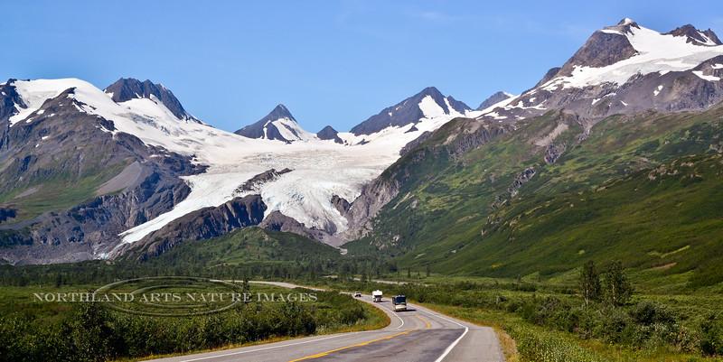 Worthington Glacier just north of Thompson Pass on the Richardson Hwy, Alaska. #81.016. 1x2 ratio format.