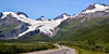 Worthington Glacier just north of Thompson Pass on the Richardson Hwy, Alaska. #81.016. 1x2 ratio format.
